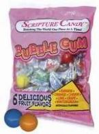 Candy-Scripture Bubble Gum (Gifts)