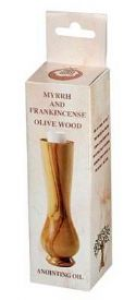 CAnointing Oil-Frankincense & Myrrh Olivewood Bottle (Anointing Oil) - Click To Enlarge