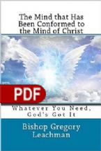 The Mind That Has Been Conformed To The Mind Of Christ (E-Book PDF Download) By Gregory Leachman