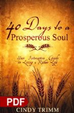 40 Days to a Prosperous Soul: Your Interactive Guide to Living a Richer Life (E-Book PDF Download) by Cindy Trimm