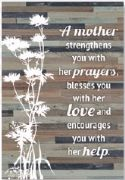 CPlaque-Wood Silhouettes-A Mother Strengthens (6 x 9) - Click To Enlarge