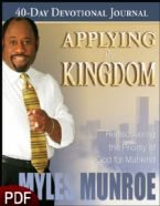 Applying the Kingdom (Hardcover book) by Myles Munroe