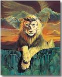 CLion of Judah, (Prophetic Print-Size 8 x 11 ) William Hallmark  - Click To Enlarge