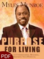 Purpose For Living (E-Book-PDF Download) By Myles Munroe