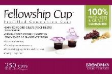 Communion Fellowship Cup Prefilled Juice/Wafer-Box/250 (Pkg-250) by B & H Publishing Group