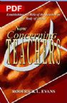 Now Concerning Teachers: Establishing the Role of the Teacher in the Body of Christ (PDF Download) by Roderick L. Evans