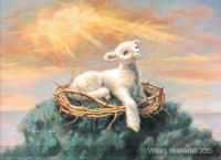 Behold the Lamb, (Prophetic Print- Size 11 x 12 ) William Hallmark